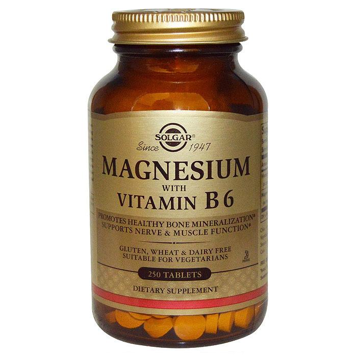 Solgar Magnesium with Vitamin B6, 250 tabs