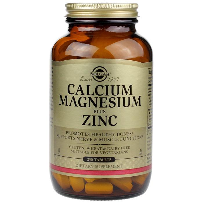 Solgar Calcium Magnesium Plus Zinc, 250 Tablets