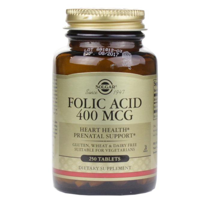 Solgar Folic Acid 400 mcg (250 Tablets)