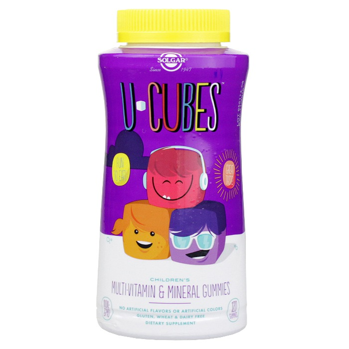 Solgar Multi-Vitamin & Mineral Gummies U-Cubes (120 Gummies)