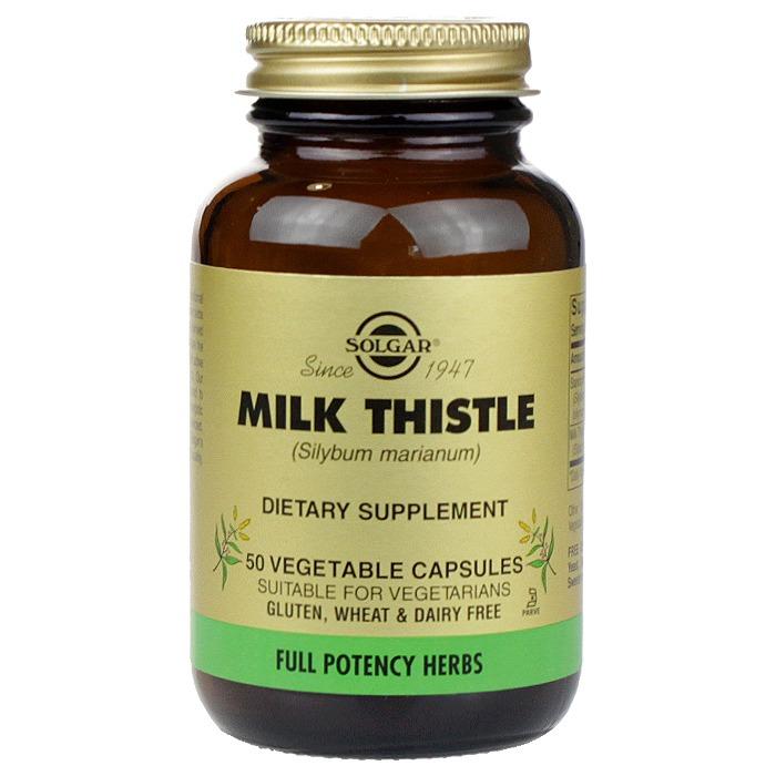 Solgar Milk Thistle,(50 veggie Caps)