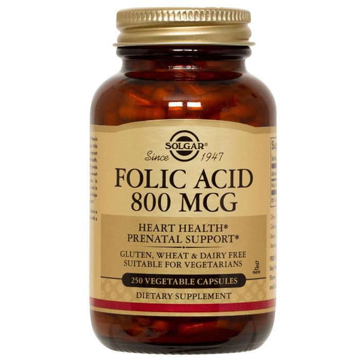 Solgar Folic Acid 800 mcg, 250 vcaps