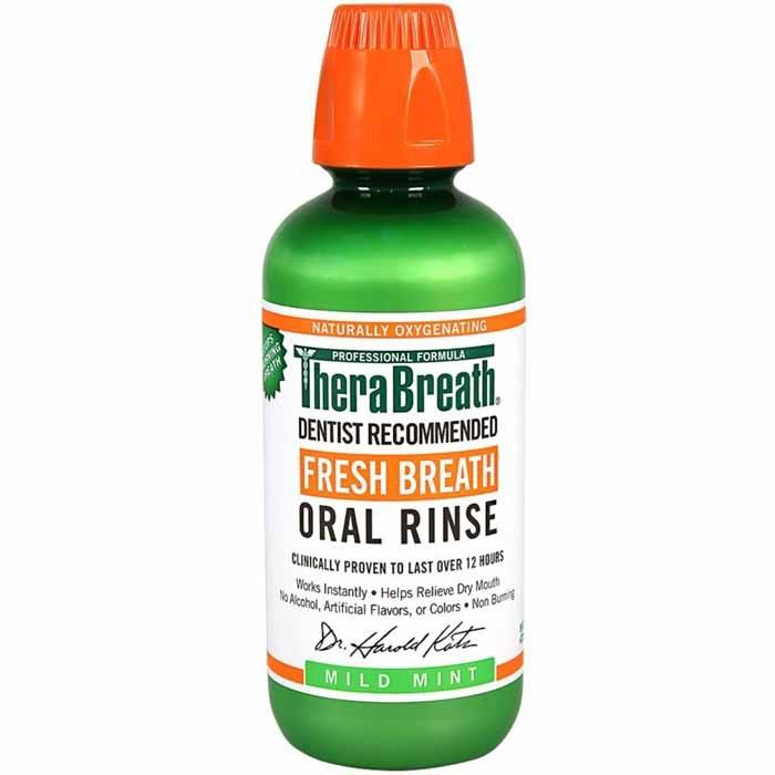 TheraBreath Fresh Breath Oral Rinse, Mild mint(16 oz)