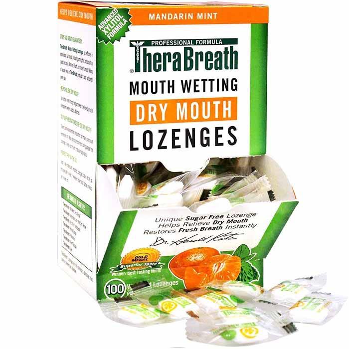 TheraBreath Dry Mouth Sugar-free Lozenges, Mandarin Mint Flavor( 100ct)