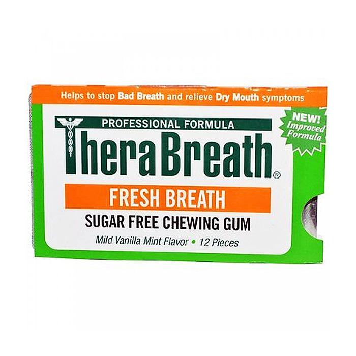 TheraBreath Fresh Breath Sugar Free Chewing Gum, 12 pieces