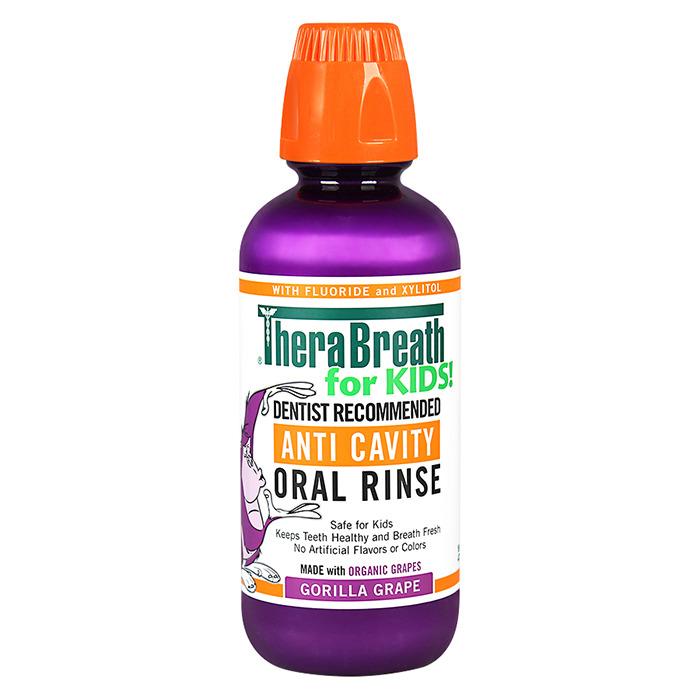TheraBreath Oral Rinse for kids, Gorilla Grape (16oz)