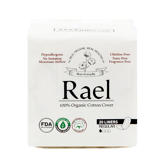 Rael Organic Cotton Pantyliners, Regular(20 ct)