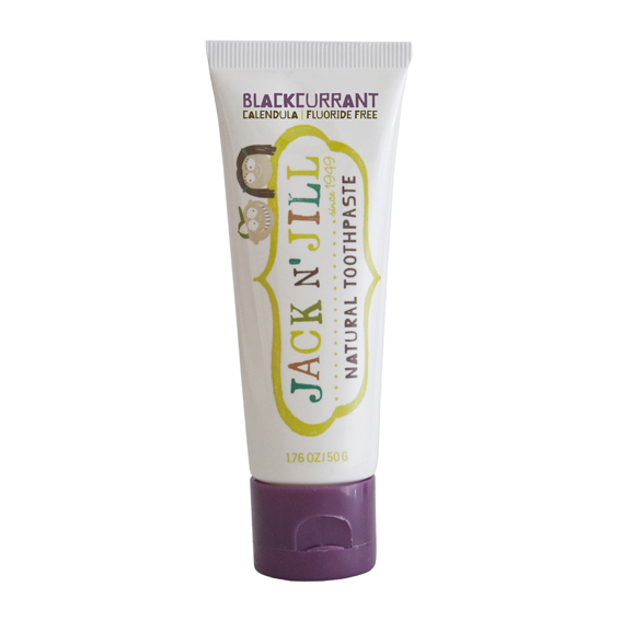JACK N JILL Natural Toothpaste: BLACK CURRANT (1.76 oz, 50g)