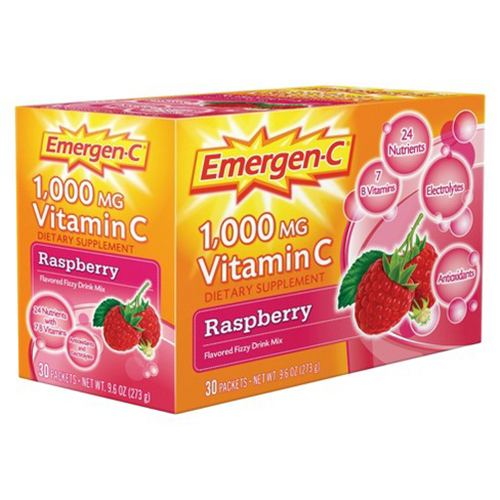 Emergen-C 1000mg Vitamin C Raspberry, 30 count