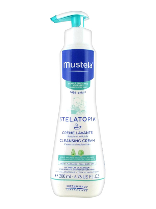 Mustela Stelatopia Cleansing Cream For Extremely Dry Skin, 6.76 fl oz