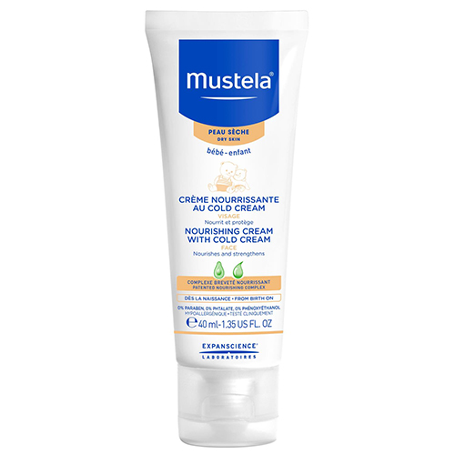 Mustela Nourishing with Cold Cream for Dry Skin, 1.35 fl oz.