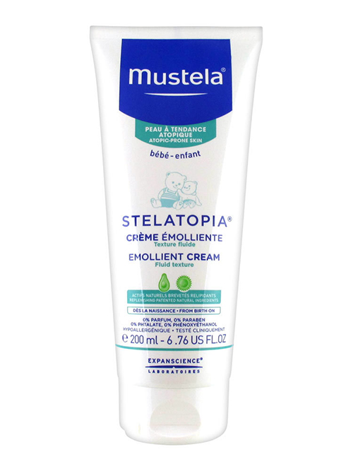 Mustela Stelatopia Emollient Cream for Extremely Dry Skin, 6.76 fl oz