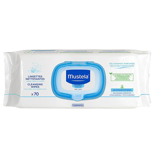 Mustela Cleansing Wipes, Ultra Soft Baby Wipes, 70 ct.