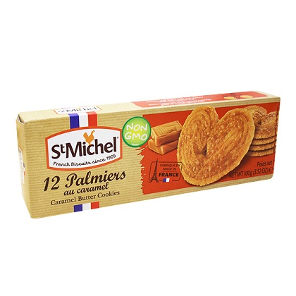 St Michel French Biscuits Caramel Butter Pastry, 12 cookies