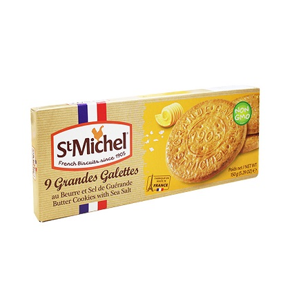 St Michel French Biscuits Butter Cookies with Sea Salt
