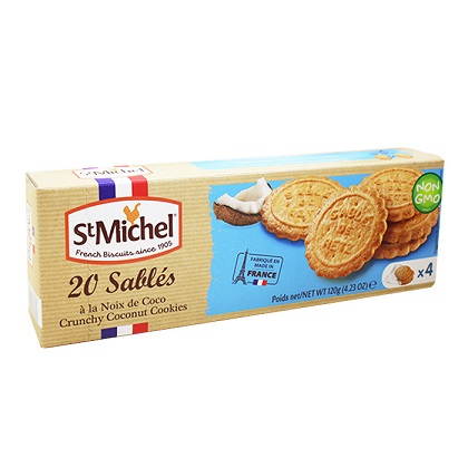 St Michel French Biscuits Crunchy Coconut Cookies