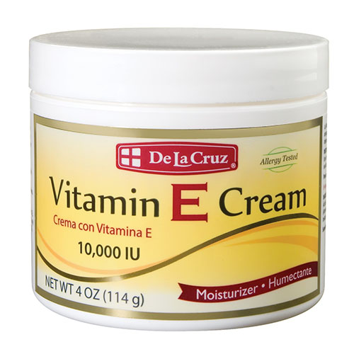 De La Cruz Vitamin E Cream 10,000 IU 4OZ
