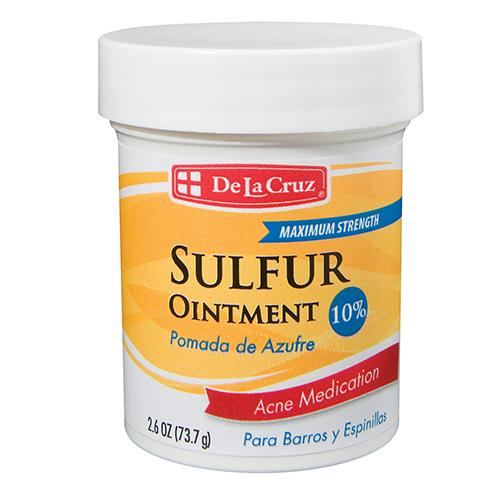 De La Cruz Sulfur Ointment 10% 2.6OZ